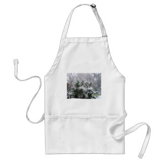 snowy day adult apron