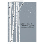 Snowy Day Birch Trees Cards