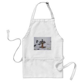 snowy day birdbath adult apron