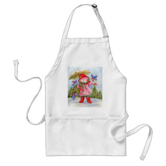 Snowy day Bluebird Afternoon Adult Apron