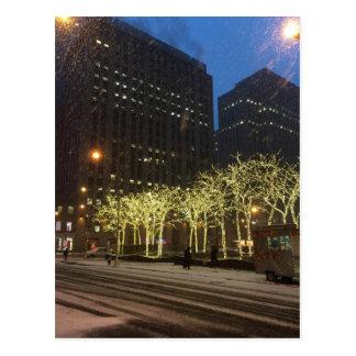 Snowy Day in New York City Postcard