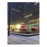 Snowy Day in New York City Postcard
