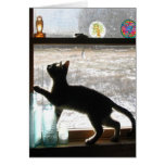 Snowy Day Kitten Greeting Card