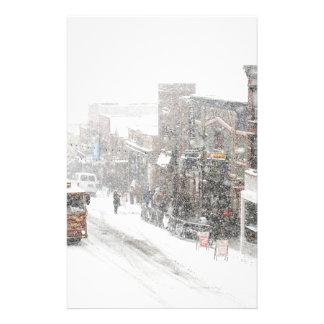 snowy day stationery