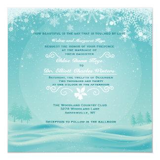 Snowy Day Wedding Invitation
