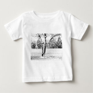 Snowy Day with Trees Baby T-Shirt