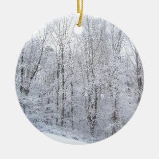 snowy days ceramic ornament