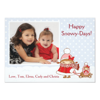 Snowy Days Holiday Card