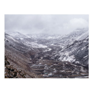 Snowy Dingboche Valley in the Himalayan Mountains Postcard