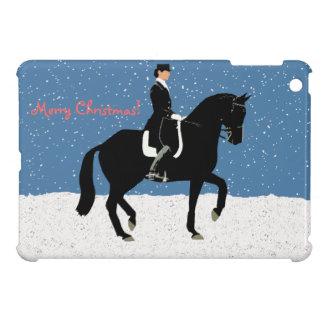 Snowy Dressage Horse Christmas iPad Mini Covers