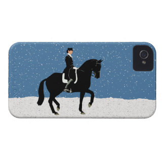 Snowy Dressage Horse Christmas iPhone 4 Cover