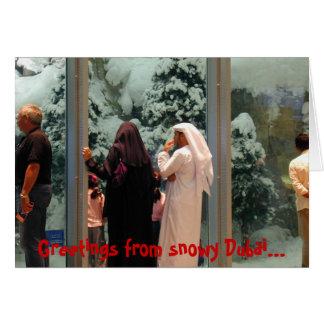 Snowy Dubai Greeting Card