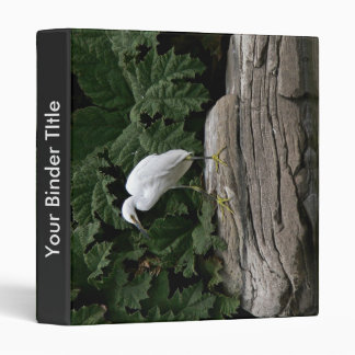 Snowy egret 3 ring binder