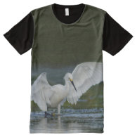 Snowy Egret All-Over Print Wildlife T-shirt All-Over Print T-shirt
