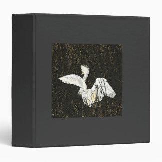 Snowy Egret Art Avery Binder