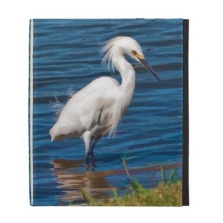 Snowy Egret at the Pond iPad Folio Case