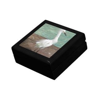 Snowy Egret Bird Keepsake Boxes