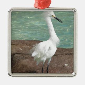 Snowy Egret Bird Ornaments