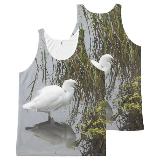 Snowy Egret Bird Wetlands Wildlife Animals All-Over Print Tank Top