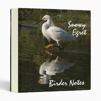 Snowy Egret Birder Notes Avery Binder