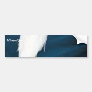 Snowy egret bumper sticker