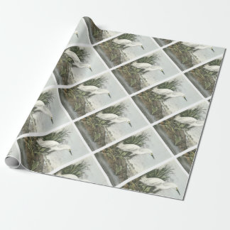 Snowy Egret by Audubon Wrapping Paper