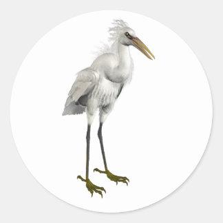 Snowy Egret Classic Round Sticker