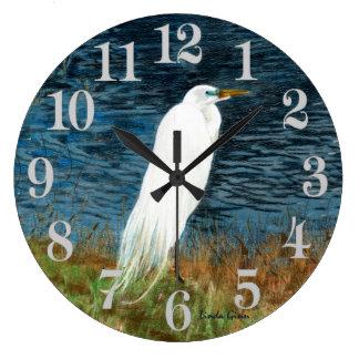 Snowy Egret Clock