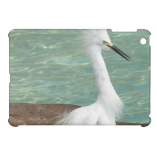 Snowy Egret Cover For The iPad Mini