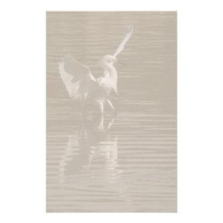 Snowy Egret Dance Stationery
