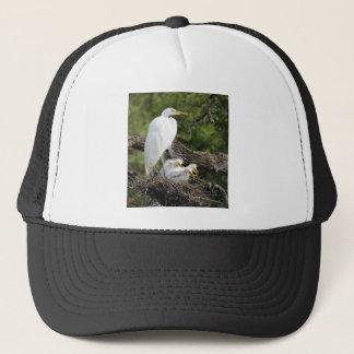 Snowy Egret Family Trucker Hat