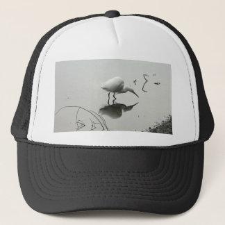 snowy egret fishing hat