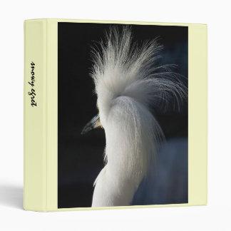 Snowy Egret Hairdo Avery Binder