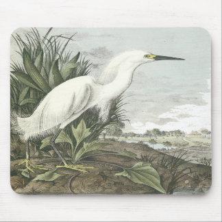 Snowy Egret, John Audubon Mousepad
