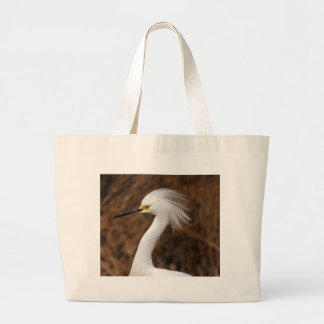 Snowy Egret Large Tote Bag