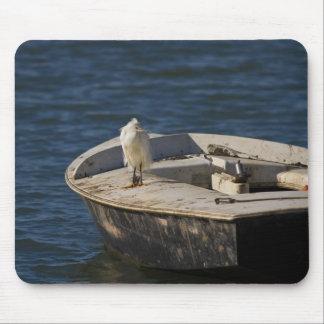 Snowy Egret Mouse Pad