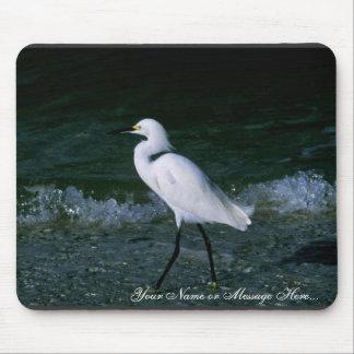 Snowy Egret Mousepad