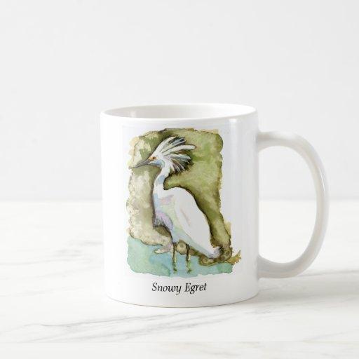 Snowy Egret mug