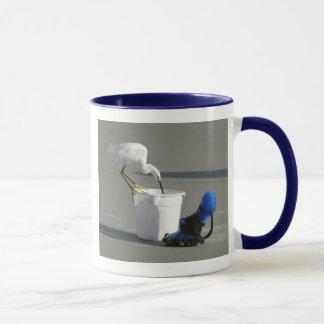 Snowy Egret on a Bait Bucket Mug