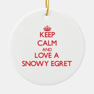 Snowy Egret Ornaments