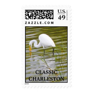 SNOWY EGRET POSTAGE STAMPS