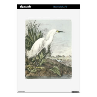 Snowy Egret Decal For The iPad