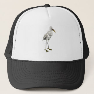 Snowy Egret Trucker Hat