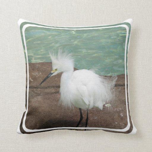 Snowy Egrets Pillow