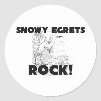 Snowy Egrets Rock Sticker