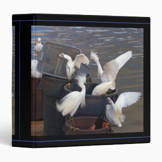 Snowy Egrets & Tuna Avery Binder