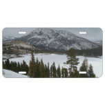 Snowy Ellery Lake California Winter Photography License Plate