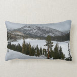Snowy Ellery Lake California Winter Photography Lumbar Pillow