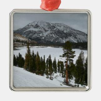 Snowy Ellery Lake California Winter Photography Metal Ornament
