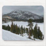 Snowy Ellery Lake California Winter Photography Mouse Pad